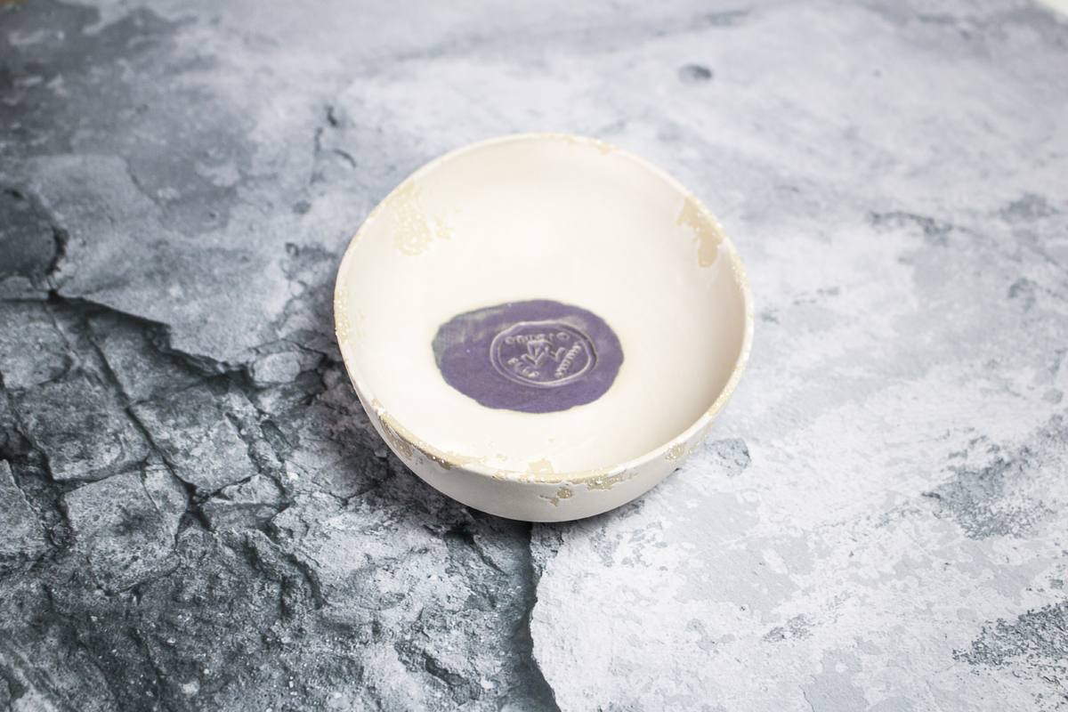 Custome stamp in bowl - by Studio RAW